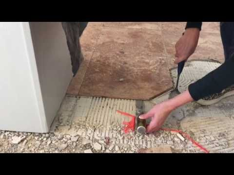 How To Remove Tile Mastic Or Thinset The Easy Way Be Your Own Handyman Home Youtube Tile Removal Diy Tile Plywood Subfloor