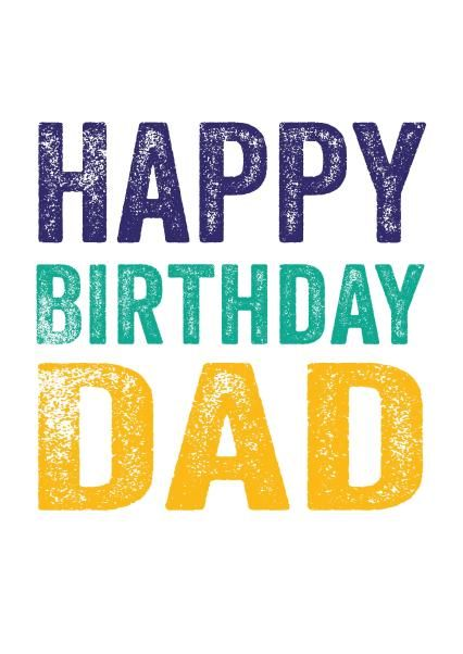 Happy Birthday Dad - Card by Do You Punctuate?