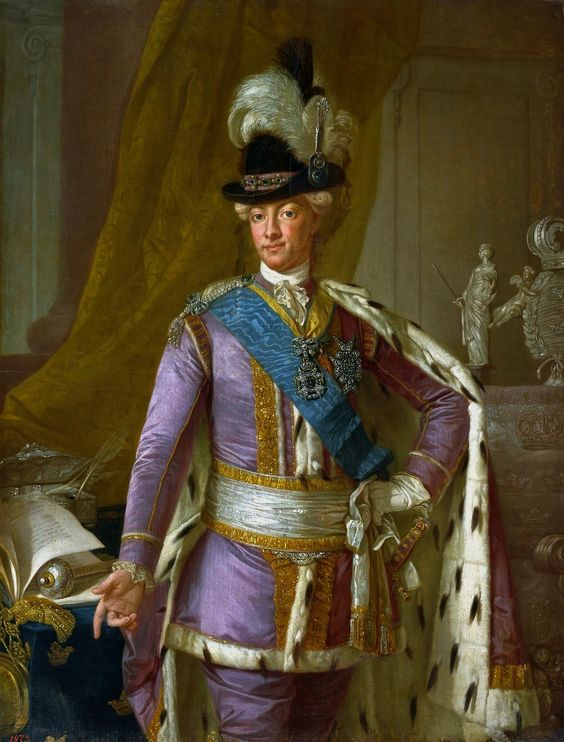 Portrait of Gustavus III of Sweden by Per Krafft the Elder, 1779 (PD-art/old), Zamek Królewski w Warszawie (ZKW), one of the portraits assembled by Stanislaus Augustus for his Conference Room at the Royal Castle in Warsaw