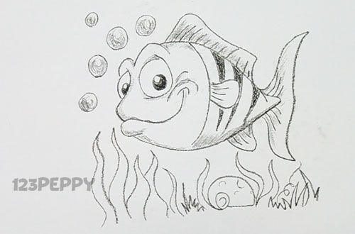 how to draw a cool fish