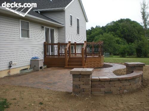 Paver Stone Patio W/Composite Deck | Backyard Ideas | Pinterest | Paver  Stone Patio, Paver Stones And Stone Patios