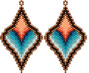 TUTO PAYANT Burning Desire Earrings Beading Pattern by Rita Sova at Bead-Patterns.com