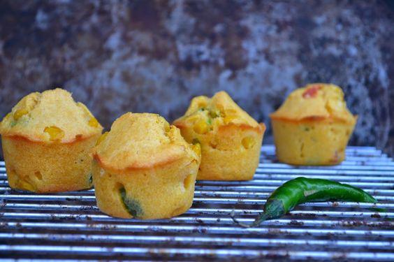 The Recipe Suitcase: Savoury Wednesday: Mais Muffins mit Koriander und Jalapeños