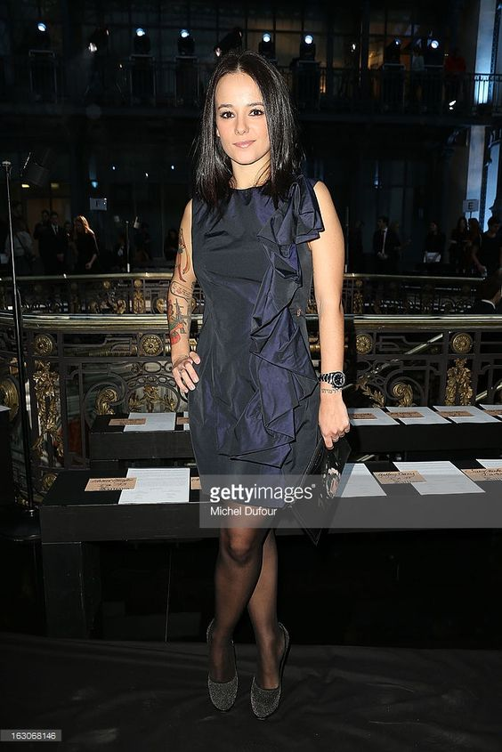 Photo d'actualité : Alizee attends the John Galliano Fall/Winter 2013...