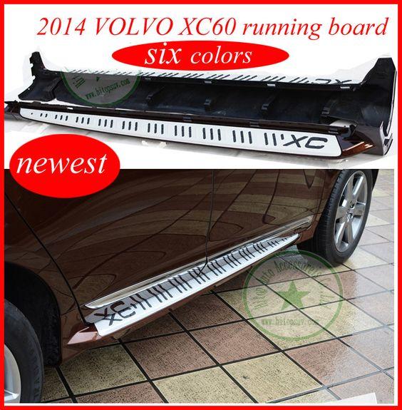 XC60 подножку подножка бар, для 2014 2015 2016 новый XC60, модель OEM, шесть цветов для выбора качества ISO, алюминиевый сплав + ABS,