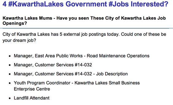 Current City of #KawarthaLakes Job openings April 3, 2014 Is your - maintenance job description