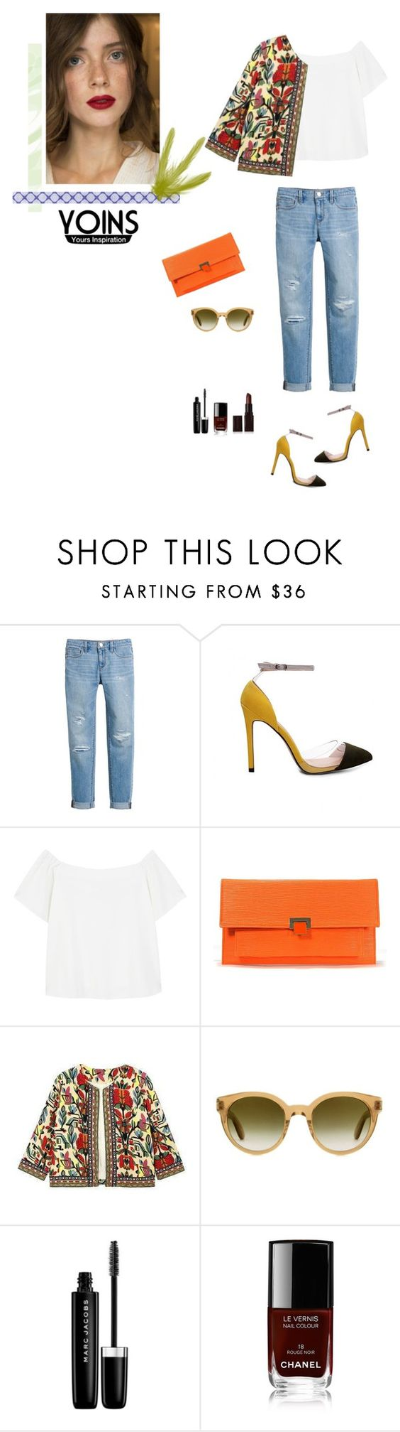"""""""Colorful"""" by sarah0-0 on Polyvore featuring moda, White House Black Market, MANGO, Paul Smith, Marc Jacobs, Chanel y Laura Mercier"""
