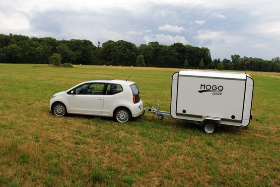 Mogo caravan hauls bicycles along with a sleeper for two