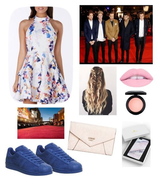 """"""""""" by pinklacelove ❤ liked on Polyvore featuring beauty, GUESS, adidas and MAC Cosmetics"""