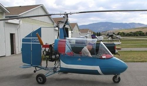 J4B2 Barnett Gyrocopter J4 B2 Helicopter Handcrafted Wood