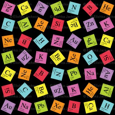 Topsy Turvy Periodic Table fabric
