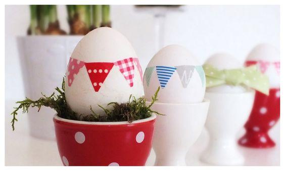 MIhA: Ostereier färben - mal anders...: Mal Anders, Ostereier Easter Eggs, Easter Spring