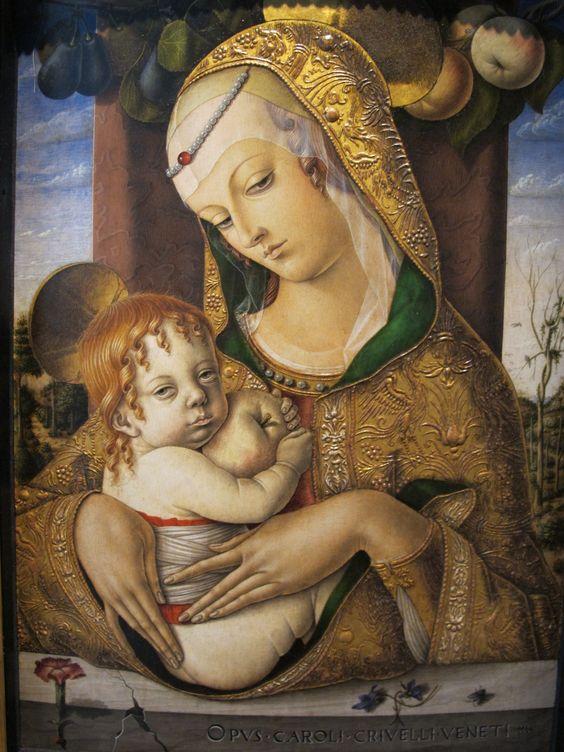 Carlo Crivelli (1435 – 1495) | Madonna col Bambino che regge una mela. Victoria and Albert Museum, Londra.