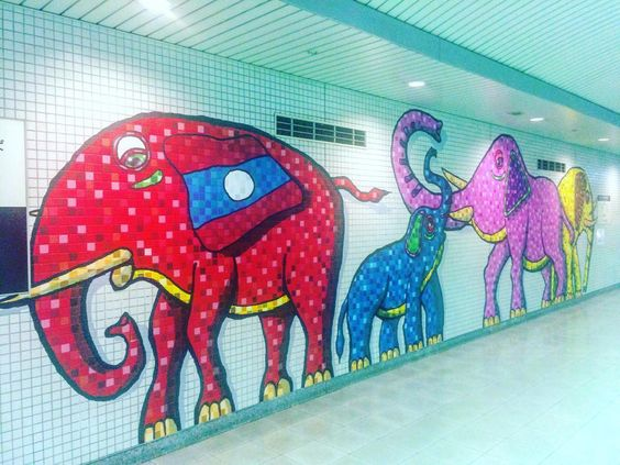 Throwback Friday... To train station murals in Tokyo Japan!