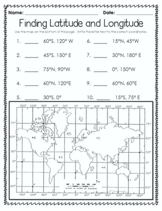 Blank World Map Worksheet With Latitude And Longitude Latitude And