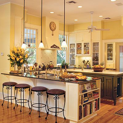 I don't know why but I am all about the yellow kitchen