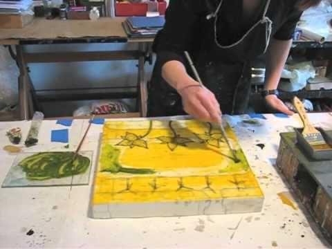 **▶ Tracy Spadafora's Encaustic Painting Movie - YouTube