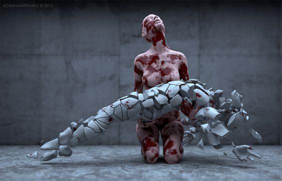 Adam Martinakis 3d art from a parallel universe