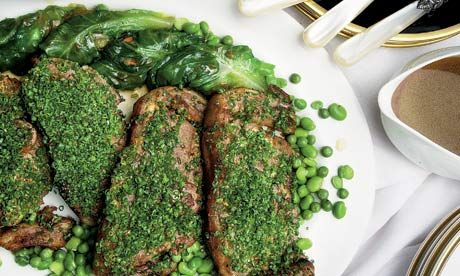 Saddle of lamb with braised spring lettuce parcels recipe - Tom Kitchin #lamb