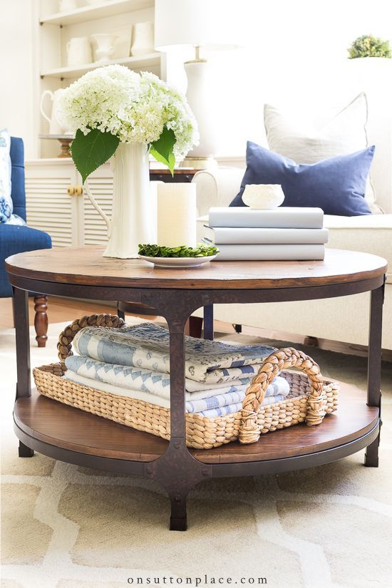 Simple Round Coffee Table Styling Ideas Rustic Coffee Tables