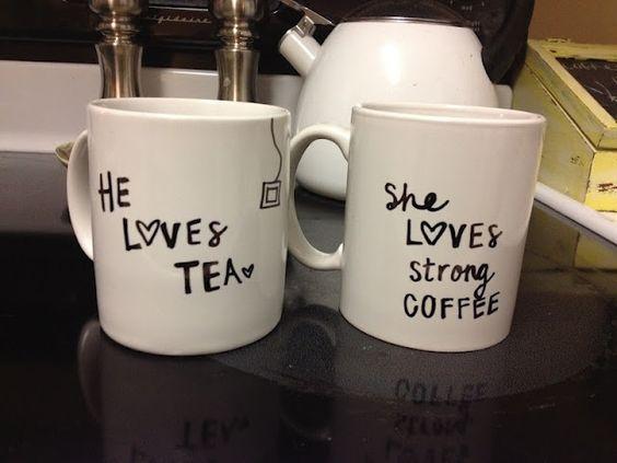 DYI for work mugs? Cute idea for Christmas gifts (Shhhh…. no peeking Erica)   How Do It Info