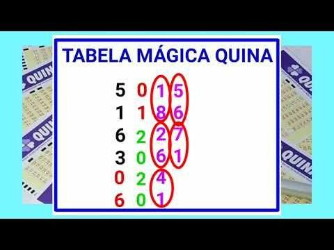 Quina Como Fazer A Tabela Magica Youtube Jogos Para Ganhar Dinheiro Jogos Loteria Lotomania Como Ganhar