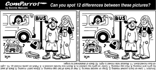 Can you spot 12 differences between these two pictures?