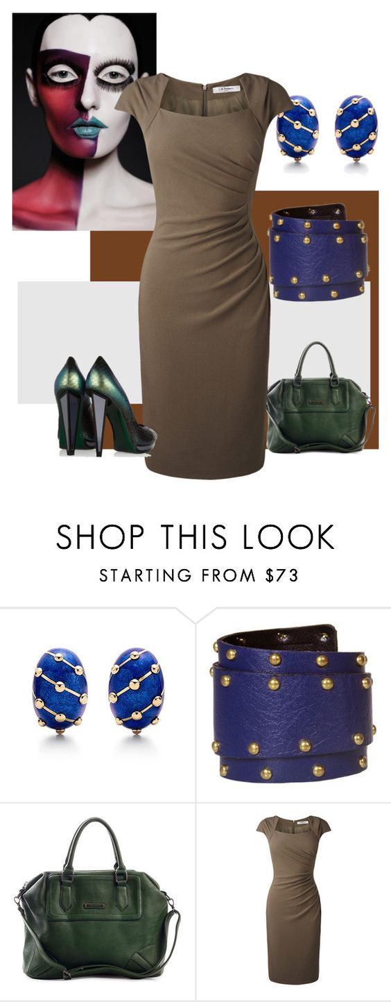 """""""15"""" by sunnybluuz ❤ liked on Polyvore featuring Tiffany & Co., L.K.Bennett and Yves Saint Laurent"""