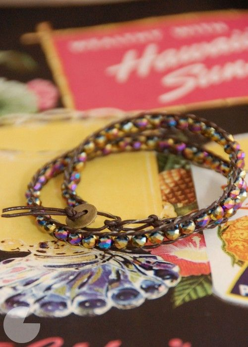 DIY wrap bracelet, another tutorial
