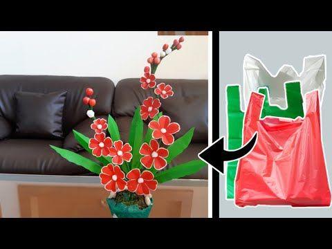 Bunga Hias Plastik Kresek Diy How To Make Beautiful Flower With