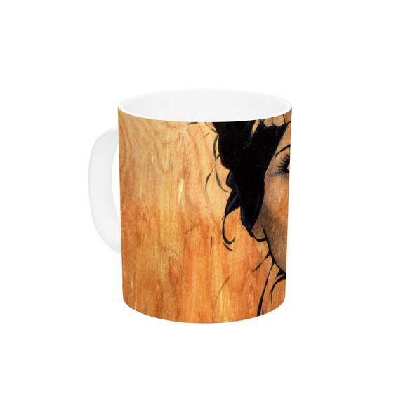 "Brittany Guarino ""Blue Bra"" Ceramic Coffee Mug"