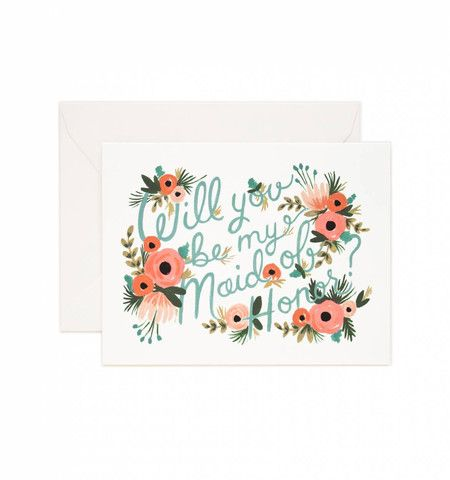"""Maid of Honor"" Card - Gin Creek Kitchen"