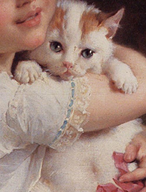 Émile Munier (Francia, 1840-1895). Her best friend, detail.