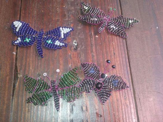 Mariposas de abalorios