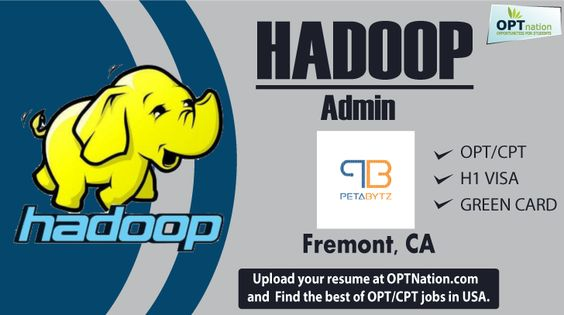 Hadoop Admin #Jobs #contract #OPT #CPT #job Petabytz technologies - how to upload a resume