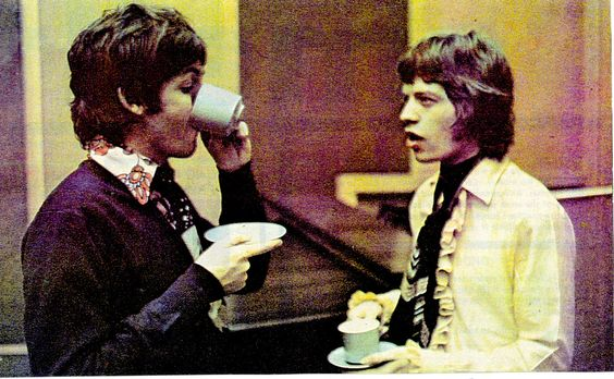 Mick and Paul Drinking tea together. Can't get much cooler than that.