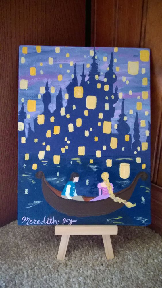 i see the light rapunzel painting disney artwork