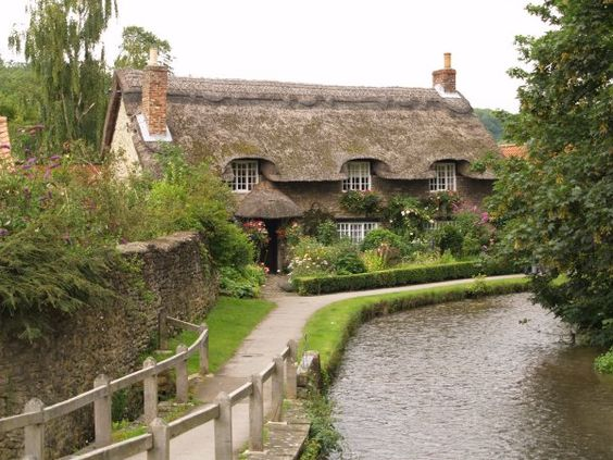 English village stream google search english cottages pinterest cottages english and - The thatched cottage ...