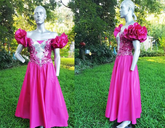 80s Prom Dress in Hot Pink by Alyce Designs / by gottagovintage1