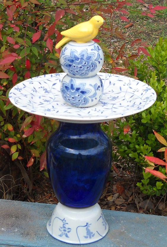 Recycled glass yard art glass garden towers yard art for Recycled glass art