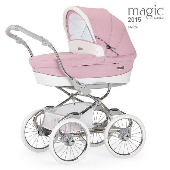 niedlicher kinderwagen f r m dchen von bebecar modell stylo class in rosa erh ltlich im. Black Bedroom Furniture Sets. Home Design Ideas