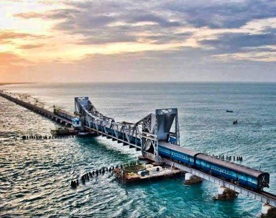 Pamban bridge , Rameswaram , TN , India.