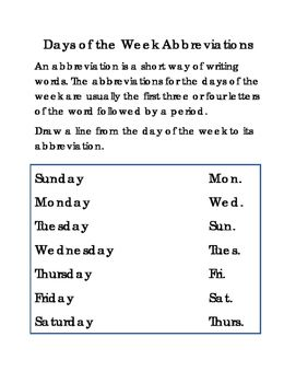 Match date to day of the week