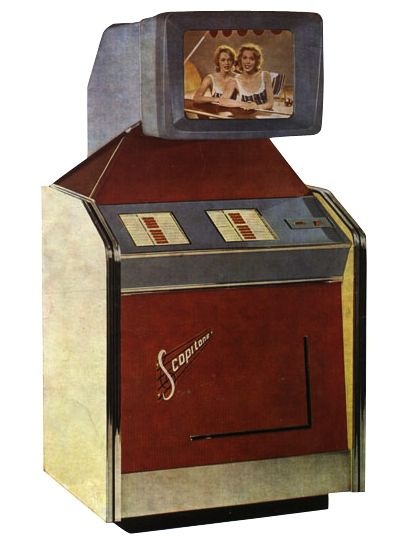 """In the 1960s, music videos were shown in coin-operated machines from a French company called Scopitone. Strange and somewhat exotic visuals were added to pop songs to draw viewers to the machines, which were introduced to the US in 1964. Collector's Weekly talked to Scopitone film collector Bob Orlowsky, who not only gives us the history of these """"visual jukeboxes,"""" but also shares some of the videos from those days."""