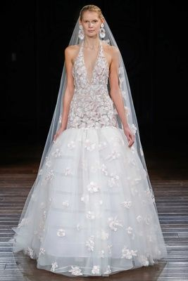 """Amalfi"" by Naeem Khan   Article: Innovative & Imaginative Gowns from Naeem Khan Bridal Spring 2017   Photography: Dan Lecca   Read More:  http://www.insideweddings.com/news/fashion/innovative-imaginative-gowns-from-naeem-khan-bridal-spring-2017/2961/"