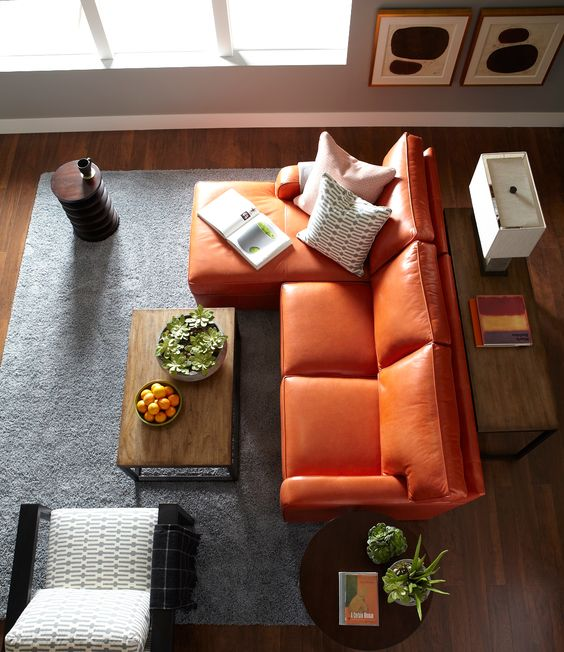Orange Leather Sofa Sets And Orange Chairs | |ORANGE| Furniture+Decor |  Pinterest | Cadeiras, Couro E Cadeiras Laranja