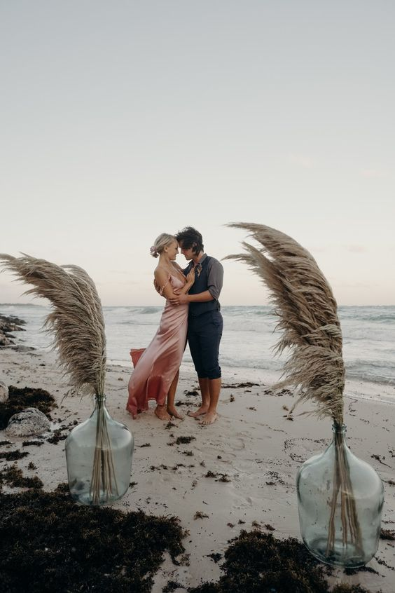 Malin Akerman's Boho Beach Wedding in Tulum, Mexico | Brides