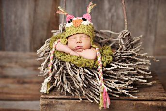 It's an Owl beanie for your little one! Aww!