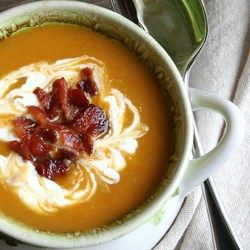 Bacon soup, Roasted butternut squash and Roasted butternut on ...