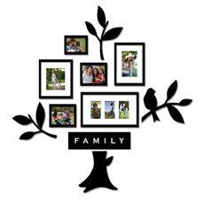 Easy/cheap Family Tree: Family Trees, Piece Frame, Living Room, Family Room, Family Photo